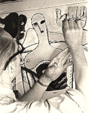 CORB WORKING ON MURAL 9