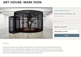 Announcement - Mark Dion - Soho Beach House.jpg