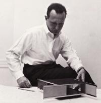 P. Blake w. model copy