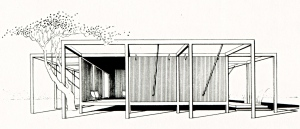 Walker Guest House - drawing - archival 3