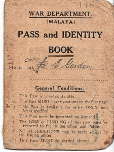 EG Pass Book, Malaya copy