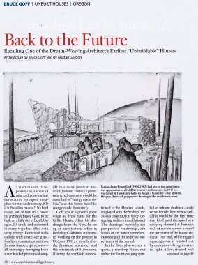 Back to the Future, Bruce Goff, (Oct. 2009, AD)