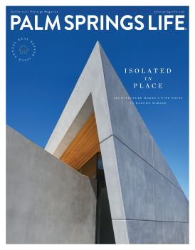 *Lo-Res Cover of Palm Springs Life mag. with photo of Barnes Coy's Owen House copy