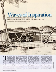 Waves of Inspiration, Paul Rudolph (Oct. 2007, AD Mexico)