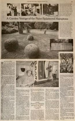A Garden Vestige, NYT, March 1, 2001