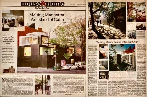 Making Manhattan an Island of Calm, NYT 2