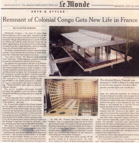 Remnant of Colonial Congo Gets New Life, Lee Monde