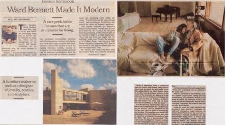 Ward Bennett Made It Modern, NYT 2